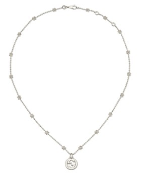 65f91cd7d21 Gucci - Sterling Silver Interlocking G Cluster Chain Necklace