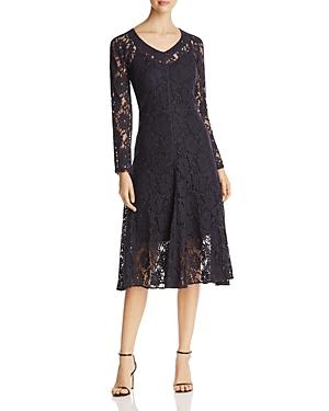 Dkny Long Sleeve V-Neck Lace Dress