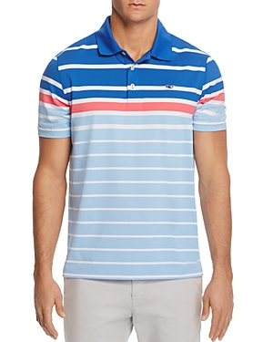 Vineyard Vines O'Keefe Engineer Stripe Regular Fit Golf Polo Shirt