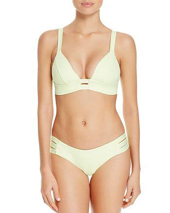 Vitamin A - Neutra Bralette Bikini Top & Emelia Triple Strap Bikini Bottom