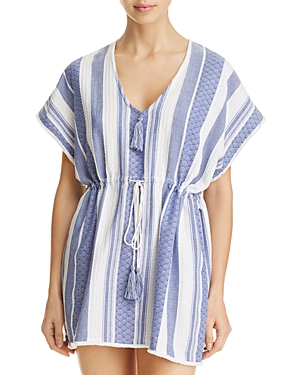 Echo Textured Yarn Dye Tunic Swim Cover-Up