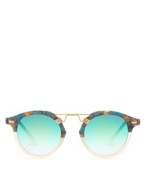 454276a9bc Krewe Women S St. Louis 24K Mirrored Round Sunglasses