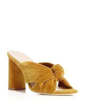 982fbb94727 Loeffler Randall - Women s Coco Velvet High-Heel Slide Sandals ...