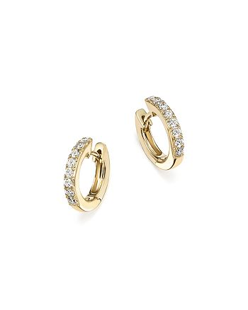 Bloomingdale's - Diamond Mini Hoop Earrings in 14K Yellow Gold, .15 ct. t.w. - 100% Exclusive