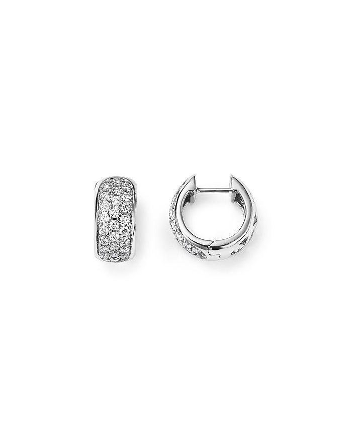 39b70872f3c013 Bloomingdale's - Diamond Huggie Hoop Earrings in 14K White Gold, .45 ct.  t.w.
