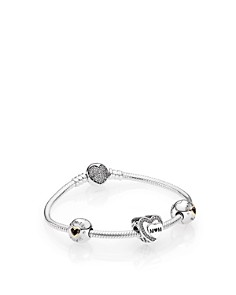 PANDORA Mother's Day Sterling Silver Charm Bracelet Gift Set - Bloomingdale's_0