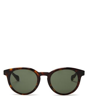 Hugo Boss Wood Temple Round Sunglasses, 53mm