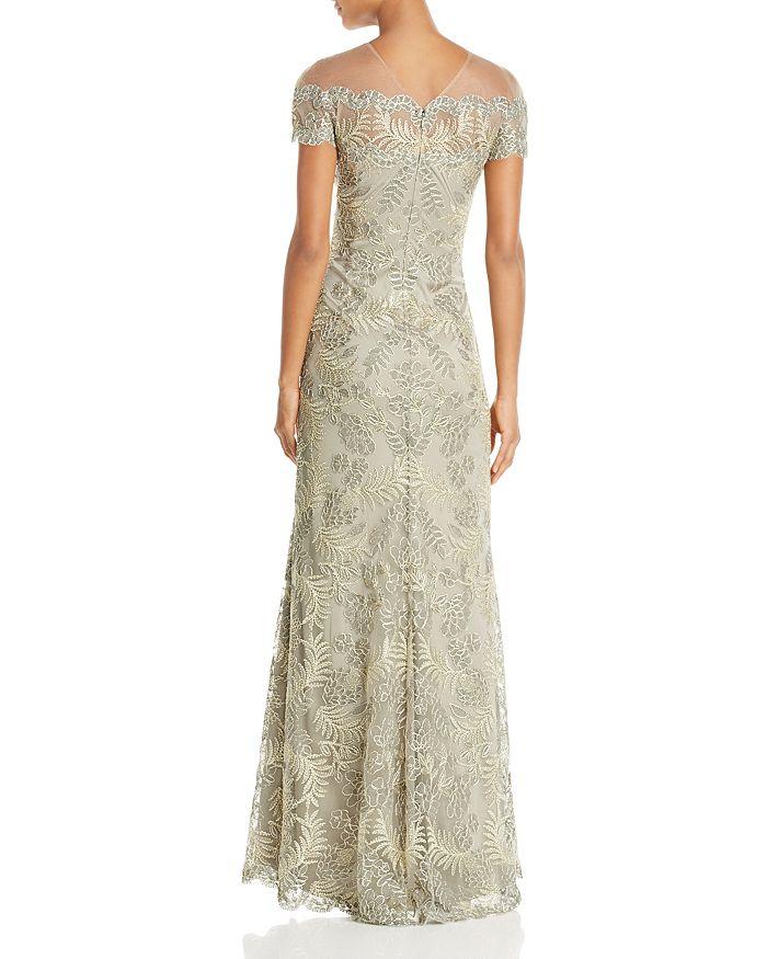 03d1bf83b45 Tadashi Shoji - Illusion Off-The-Shoulder Lace Gown