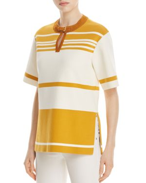 Tory Burch Krista Striped Tunic