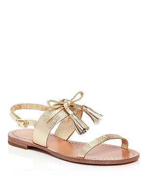 kate spade new york Carlita Metallic Leather Slingback Sandals