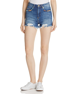French Connection Rufaro Denim Shorts in Vintage Blue