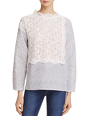French Connection Oni Mix Lace Top