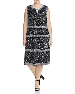 Michael Michael Kors Plus Nora Floral Print Dress