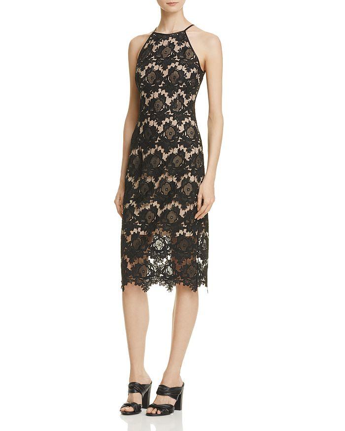 AQUA - Lace Halter Midi Dress - 100% Exclusive