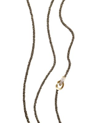 ANTONINI 18K WHITE GOLD MATERA CHAIN AND SILVERMIST DIAMOND NECKLACE, 42