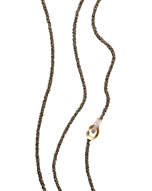 Antonini 18K Yellow Gold Matera Chain and Cognac Diamond Necklace, 42