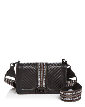 Rebecca Minkoff Love Jacquard Leather Crossbody 2601933