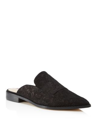 PORTER PAISLEY SUEDE FLAT LOAFER MULE