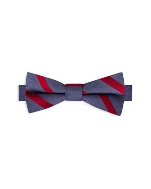 Bloomingdale's Boys Boys' Satin Stripe Bow Tie - 100% Exclusive