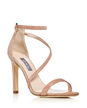 Sjp by Sarah Jessica Parker Serpentine Glitter High Heel Sandals
