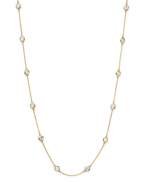 Bloomingdale's - Diamond Station Necklace in 14K Yellow Gold, 2.60 ct. t.w. - 100% Exclusive