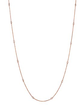 Bloomingdale's - Diamond Station Necklace in 14K Rose Gold, .30 ct. t.w. - 100% Exclusive