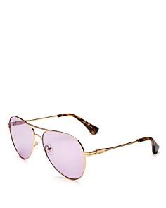 Sonix - Women's Lodi Mirrored Aviator Sunglasses, 62mm