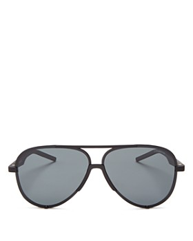 Polaroid - Men's Zero Base Polarized Brow Bar Aviator Sunglasses, 60mm