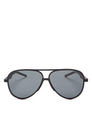 9c2c383ea Polaroid Men's Zero Base Polarized Brow Bar Aviator Sunglasses, 60mm ...