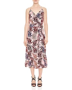 Sandro Koxie Printed Silk Wrap Dress