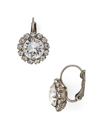 Sorrelli - Swarovski Crystal Halo Drop Earrings