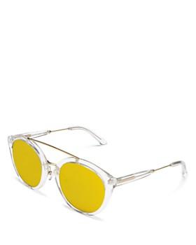 Lyndon Leone - Women's Julia Round Oversized Mirrored Sunglasses, 53mm - 100% Exclusive