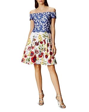 Karen Millen Atelier Off-the-Shoulder Dress