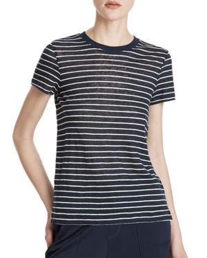 Atm Anthony Thomas Melilla Linen Striped Tee