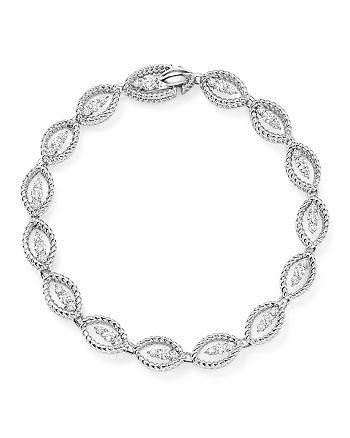 Roberto Coin - 18K White Gold New Barocco Diamond Bracelet