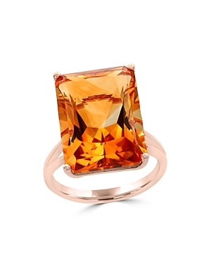 Citrine Statement Ring in 14K Rose Gold - 100% Exclusive
