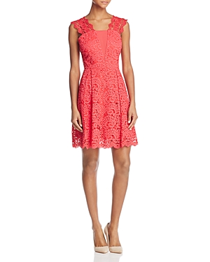 Adelyn Rae Felicity Lace Fit-and-Flare Dress