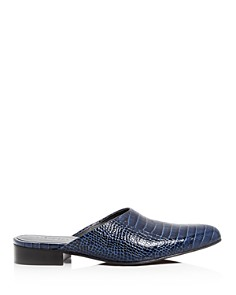 Freda Salvador - Women's Lay Croc Embossed Mules
