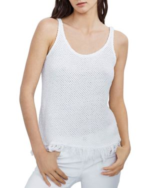 Velvet by Graham & Spencer Fringe-Hem Tank