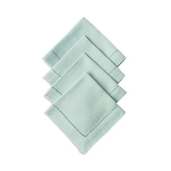 Juliska - Heirloom Linen Ice Blue Cocktail Napkin Set/4