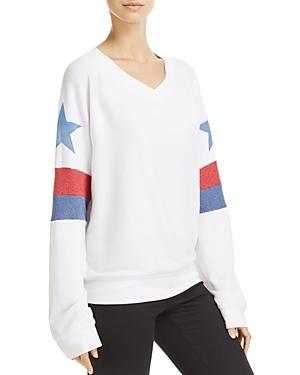 Wildfox Star & Stripe Pullover