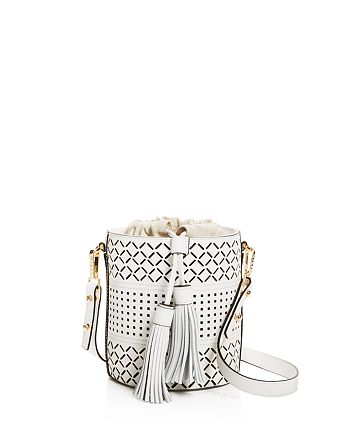 MILLY - Laser Cut Leather Bucket Bag