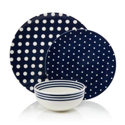 Melamine Salad Plate, Dots