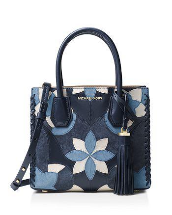 dd4a617e76cd MICHAEL Michael Kors - Mercer Floral Patchwork Medium Leather Messenger