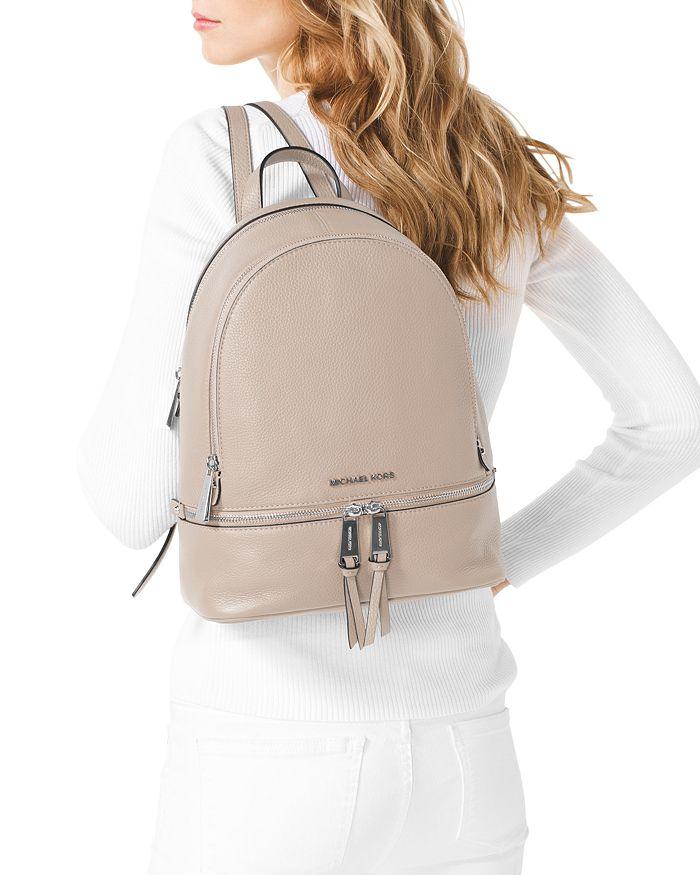 ca1e4687a0e056 MICHAEL Michael Kors Rhea Zip Medium Leather Backpack | Bloomingdale's