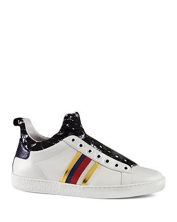 3cf9565e214 Gucci Ace Lace and Leather High Top Sneakers | Bloomingdale's