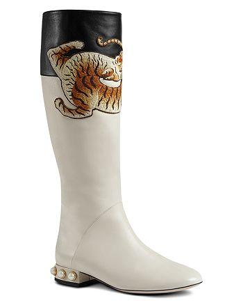 Gucci - Women's Embroidered Tall Boots