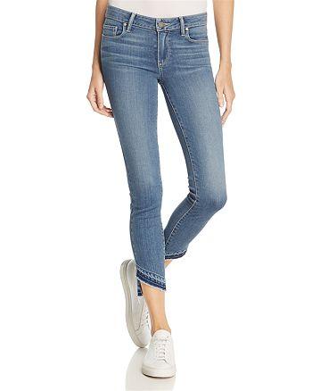 PAIGE - Transcend Verdugo Skinny Crop Jeans with Slanted Hem – 100% Exclusive