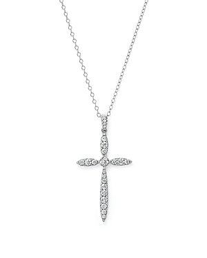 Click here for Diamond Cross Pendant Necklace in 14K White Gold... prices