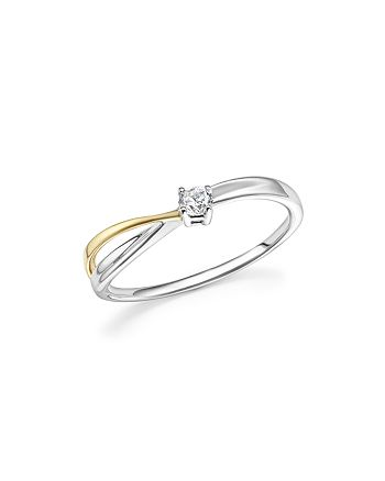 Bloomingdale's - Diamond Ring in 14K Yellow and White Gold, .10 ct. t.w. - 100% Exclusive